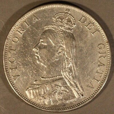 1888 Great Britain Double Florin Great Details         ** FREE U.S SHIPPING **