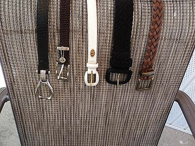 Ladies Belts Lot Of 5 Different Styles Some Name Brands