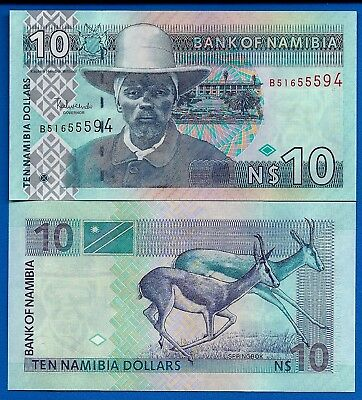 Namibia P-4 10 Namibia Dollars Year 2001 ND Uncirculated Banknote Africa