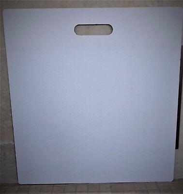 "Sample Board:  27""wide x 29""tall with carry handle, White."