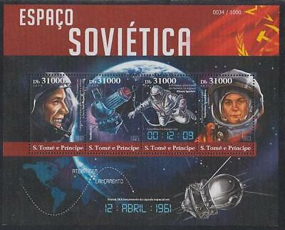 Space Sao Tome MNH M/S of 4 stamps 2015