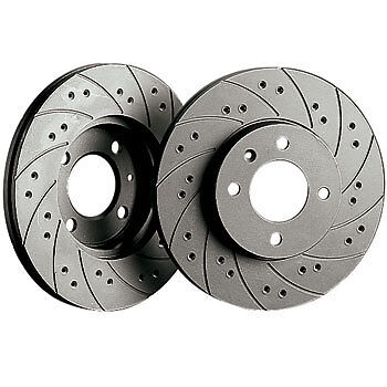 Black Diamond Combi Front Vented Brake Discs Peugeot 308 1.6 Gti (200hp) (10 > )