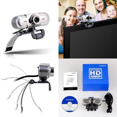 New Webcam 1080P FHD Full HD Web Cam Built In Microphone PC Camera For Skype UK