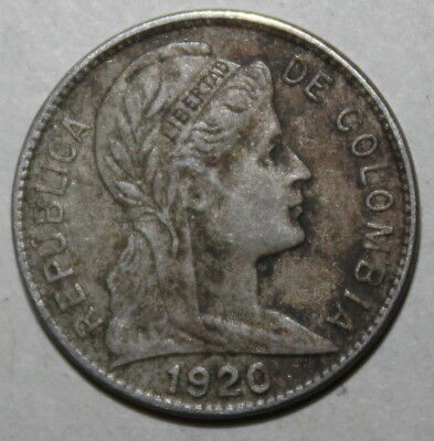 Colombian 1 Centavo Coin, 1920 - KM# 275 - Colombia - One