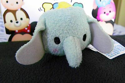 "Authentic Disney Store Tsum Tsum DUMBO Plush 3 1/2"" New Stackable with tag"