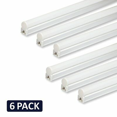 6 PACK of LED T5 4' Linkable Shop Lights White with On/Off Switch NEW - 6500K