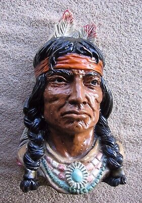 Vintage 1966 Native Americana~Proud Indian Brave Bust #320~Universal Statuary