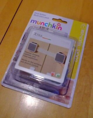 Munchkin Xtra Guard 2 Pack Dual Action Multi-Use Latch - Safety - Locks