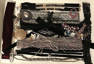 Lot (V2) Broken Jewellery Up-Cycling Shabby Chic Vintage Style Crafts Repair