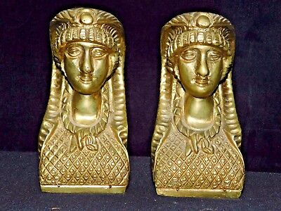 Magnificent Pair of Antique Bronze Egyptian Revival Figurines.