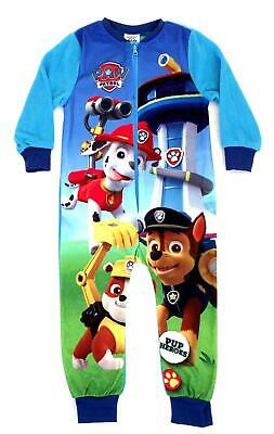 BOYS PAW PATROL FLEECE SLEEPSUIT, PYJAMAS. ALL-IN-ONE 18mths -5yrs