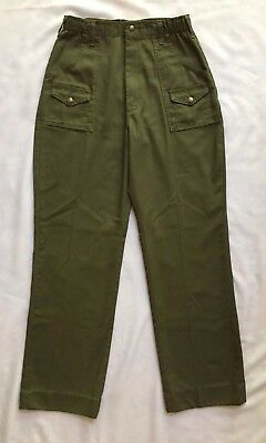 Boy Scouts Vintage Offical Scout Pants in Olive Green Size 20 Waist 30