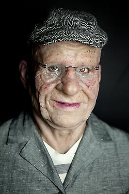 """Silicone Mask Old Man """"Marvin"""" Halloween Hand Made Realistic High Quality,"""