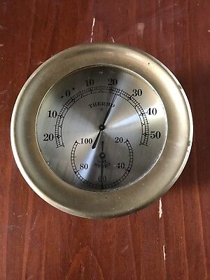 Brass Thermometer Collectable . Will Post