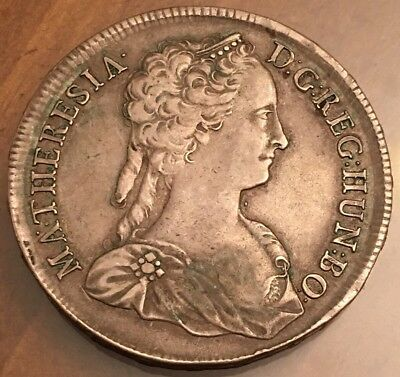 1742 Hungary Maria Theresa Thaler Silver Coin Extra Fine NICE !!!