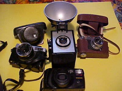 VINTAGE Camera Lot of 4  Mix Camera  as is untested