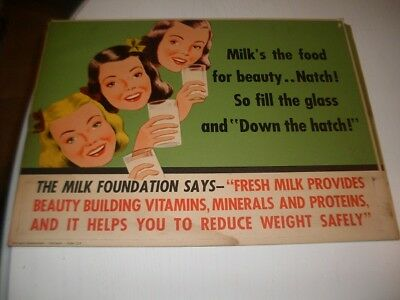 Vintage Government Administration (The milk foundation form CC4) advertisement