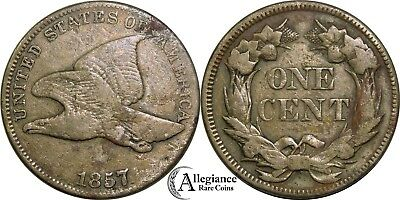 1857 1c Flying Eagle Cent FS-401b Obverse of 1856 lettering style rare variety