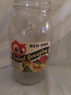 Red Owl Grocery Store Salad Dressing Jar And Peanut Butter Jar