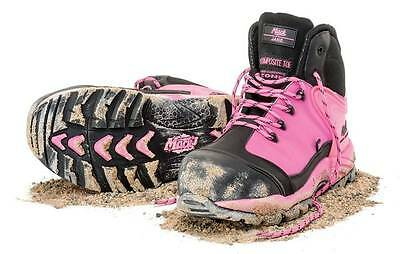 Mack McGrath Pink Hi Visibility Woman's Safety Shoe   Boots   Brand New