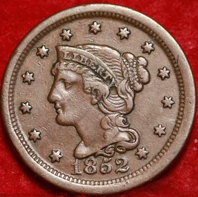 1852 Philadelphia Mint Copper Braided Hair Large Cent Free S/H