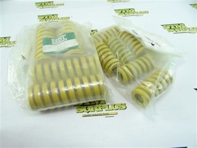 """New 10Pc Lot Of Die Springs Yellow 1-1/2"""" X 3"""" & 1-15/16"""" X 5"""" Mdl"""