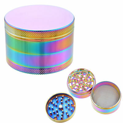 40MM 4-Layers Tobacco Grinder Rainbow Herb Metal Tobacco Herb Spice Crusher US