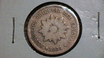 Uruguay 5 Centesimos 1924 LIGHTLY CIRCULATED 998A1