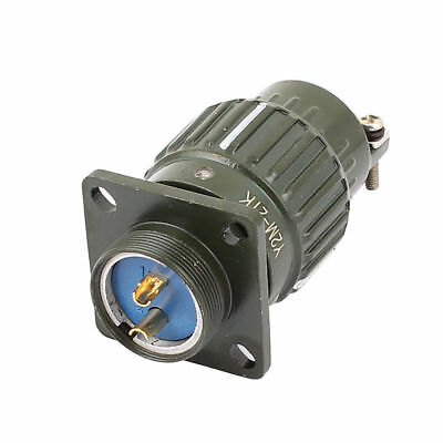 Y2M21-2 AC300V Metal Housing 2P Cable Aviation Circular Connector 30.5x30.5x62mm