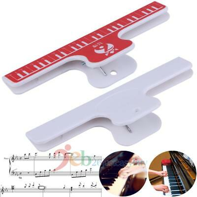 Music Book Note Ruler Sheet Music Clip Holder For Piano Guitar Violin Viola