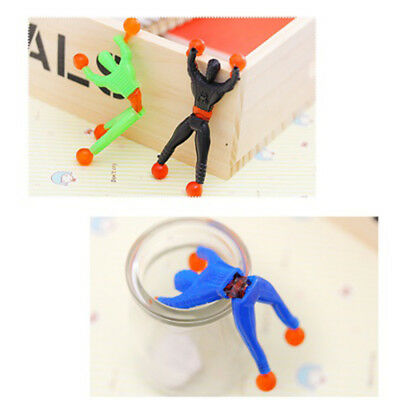 Lot 6pcs Sticky Wall Climbing Climber Men Kid Toy Funny TOYS Favors Supplies Hot