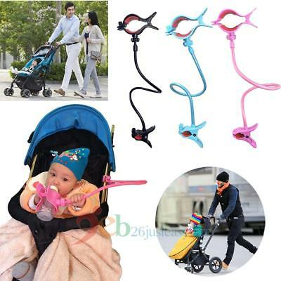 Hands-free Adjustable Bottle Clip Holder on Baby Strollers Bed for Dad Mumy