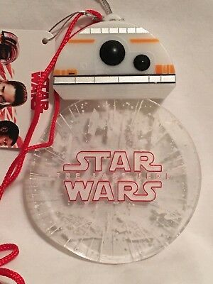 "Disney Parks Star Wars ""The Last Jedi"" BB-8 Droid Light Up Glow Lanyard & Badge"