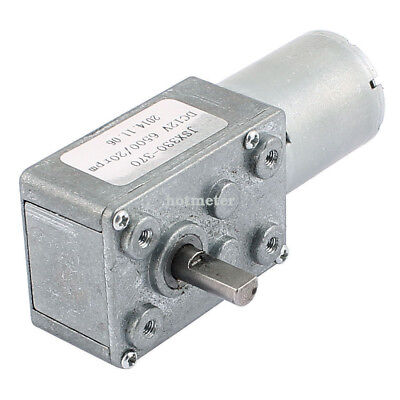 H● DC 12V 20RPM 2Pins D-Shape Shaft Electric Power TurboWorm Geared Motor