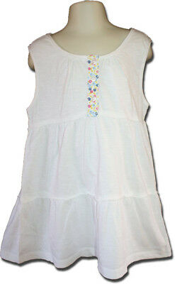 New MINI BODEN Size 7-8 Tiered Jersey Top in White