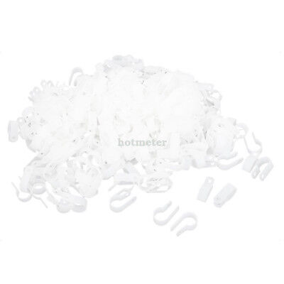 1000Pcs Replacement White Plastic R Clip Clamp for 16mm Wire Hose Tube 30x17x9mm