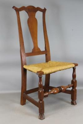A Rare 18Th C Norwich, Ct Chippendale Chair With Bold Spanish Feet In Cherry