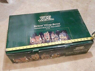 Dept 56 ESTATE SALE!  Dickens Village Box Set - Manchester Square - 25 Pieces!