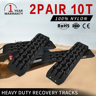 Heavy Duty Recovery Tracks 10Tons Off Road 4x4 4WD Sand Snow Mud Blue 2Pairs