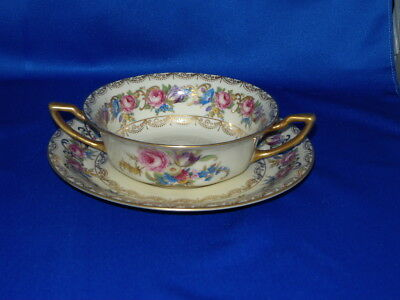 Rosenthal Vienna Boullion Cream Soup Bowls Double Handled 4