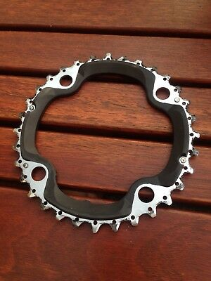 Shimano DEORE XT - 32t - 104mm - 10 Speed Chainring BLACK/SILVER