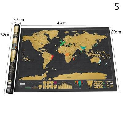 42*30cm Travel Edition Scratch Off World Map Poster Personalized Journal Log S