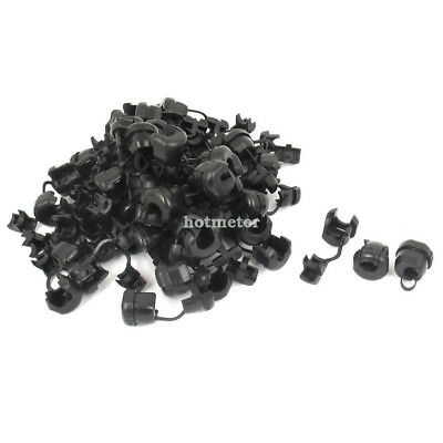 60 Pcs 6N-4 Black Nylon Strain Relief Bushing Electric Wire Clip for 7.6mm Cable