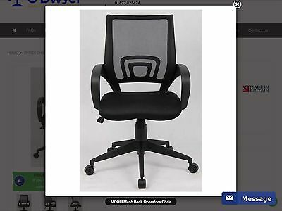 New Lincoln lin 300 T1-K Black mesh managers chair