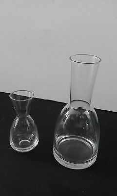 NEW D&V Glass Carafe 2 sizes Restaurant Cafe Function Pub Water Wine Juice