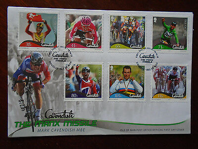 Isle of Man 2012 Mark Cavendish First Day Cover
