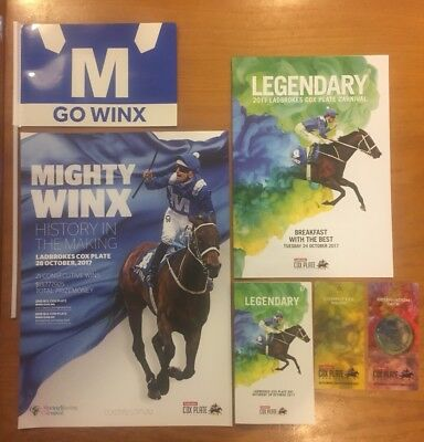 Mighty Winx Memorabilia Cox Plate 2017 Collectable Poster Race book Banner Etc..