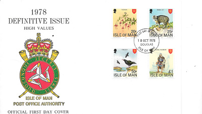 ISLE of MAN 1978 Landmarks Definitives Part 2 - 4 values - SG 124/27  - FDC