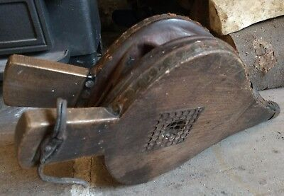 Antique Wood and Leather Bellows