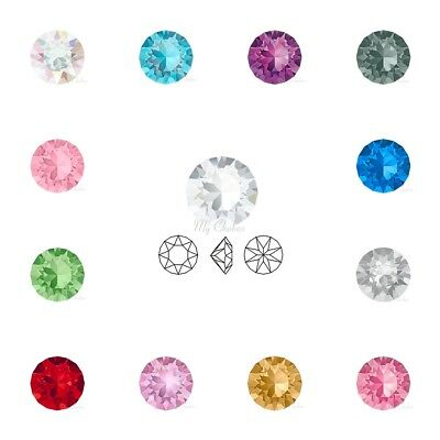 PICK SIZES & COLOUR Genuine Swarovski 1088 XIRIUS Crystal Chaton Pointed Back
